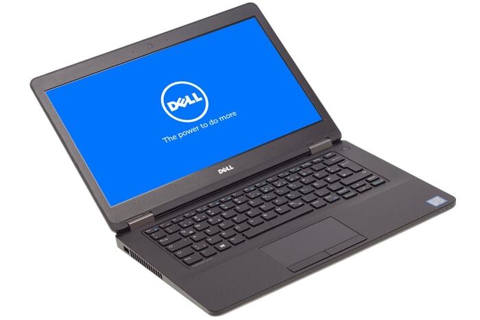 Dell Latitude E5470 Notebook Ansicht links USB 3 Port und sichtbare Lüftung 14 Zoll Bildschirm