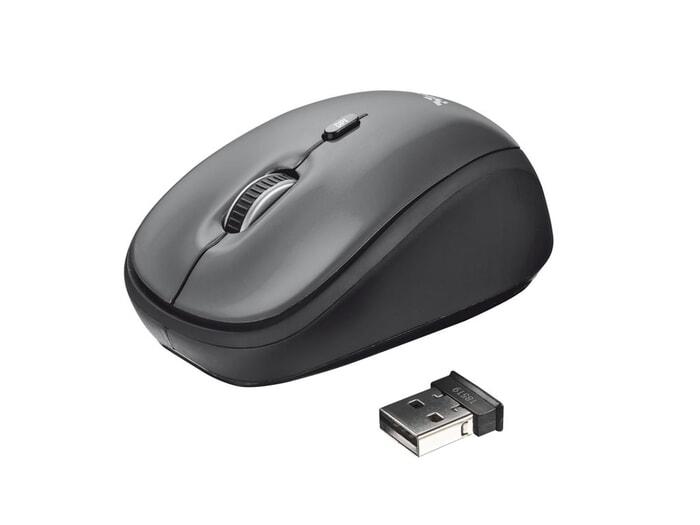 Trust Yvi Wireless Maus, schwarz
